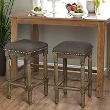 Shabby Chic Stools by Amazon Com Renate Grey Shabby Chic Counter Height Bar Stools Set