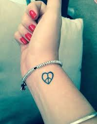 heart peace sign tattoo creativefan