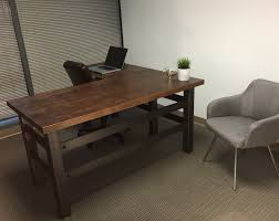 Office Desk L Buy A Crafted L Shape Industrial Office Desk Made