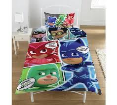 buy pj masks comic bedding single argos uk