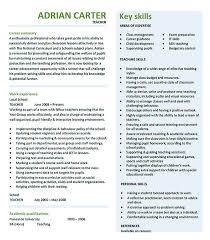 Resume Blank Format Pdf Good Teachers Resume Format