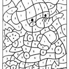 color by numbers for adults free printables give the best coloring