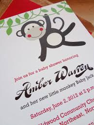 monkey invitations baby shower sock monkey baby shower