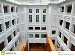 national gallery singapore interior courtyard editorial stock