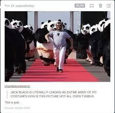 Fu Meme - jack black leading an army of po s kung fu panda meme funny