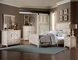 all mirror bedroom set amazon com thomasville 5 piece queen weathered white bedroom set