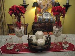 Centerpiece For Dining Table by Decorating Ideas Surprising Image Of Red And White Dining Table