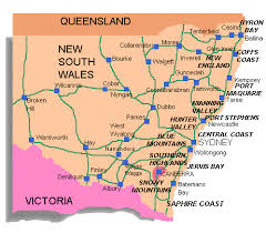 map of new south wales new south wales pictures map map of australia region political