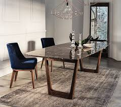 marble dining room set dining table with emperador marble top and walnut base table