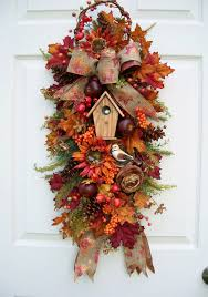 fall swag wreath alternative http www timelessfloralcreations
