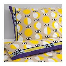 Twin Duvet Cover White Amazon Com Ikea Glodande Twin Duvet Cover And Pillowcases Yellow