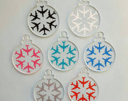 airplane ornaments etsy