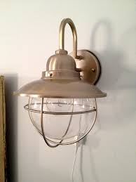 Electrical Box For Wall Sconce How To Make A Hard Wire Wall Light Into A Plug In Wall Sconce