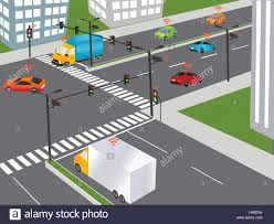 do traffic lights have sensors communication that connects cars to devices on the road such as