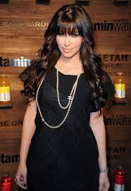 pearls necklace dress images Celebrities in pearls kim kardashian wears a chanel pearl jpg