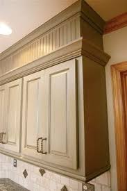 kitchen soffit ideas upgrade cabinet makeover with diy crown moulding and chalky finish