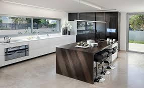 cuisine avec ilot cuisine moderne design avec ilot verre cuisine cbel cuisines
