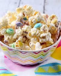 white chocolate easter popcorn mix recipe popcorn mix popcorn