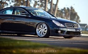 bagged mercedes cls stance works rotiform u0027s mercedes cls on wrw wheels