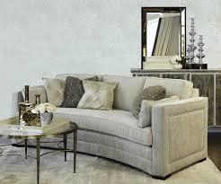 Curved Fabric Sofa by Lauren Fabric Curved Sofa Decorium Furniture