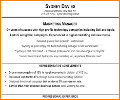 Resume Summary Statement Samples by Marketing Resume Summary Statement Examples Resume For Your Job