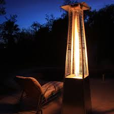stainless steel pyramid flame patio heater amazon com garden radiance grp4000ss dancing flames pyramid