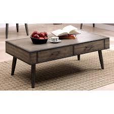 rustic grey coffee table furniture of america bradensbrook mid century modern industrial