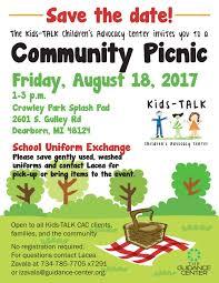 Camp Dearborn Map Kids Talk Children U0027s Advocacy Center U0027s Annual Community Picnic