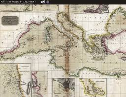 Map Of Mediterranean Sea 1817 Chart Of The Mediterranean Sea Old Maps Pinterest