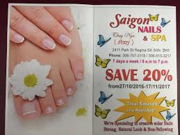 saigon nails u0026 spa ltd opening hours 2411 park st regina sk