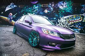 honda custom car fully custom honda accord with air suspension and purple wrap