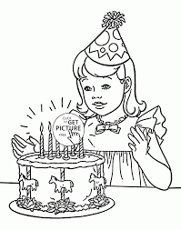 birthday coloring page for kids holiday coloring pages