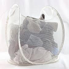 Laundry Hamper Ikea by Amazon Com Ikea Mesh Laundry Basket Collapsible White Home