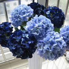 blue wedding flowers 10 pcs silk hydrangea navy blue wedding flowers wedding table