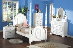 Furniture Kids Bedroom Princess Bedroom Set Flora In White By Acme