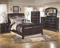 Bedroom Dresser With Mirror Ridgley 5 Pc Bedroom Dresser Mirror Sleigh Bed B520