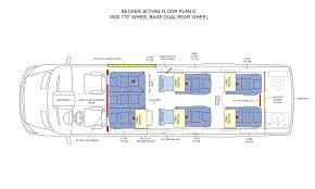 sprinter van conversion floor plans becker automotive design luxury transport coaches sprinter