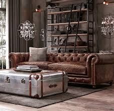 Chesterfield Sofa Used Einrichten Im Used Look Industrial Living Industrial Style Mit