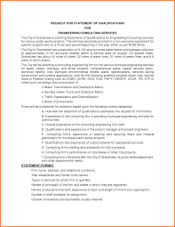 statement of qualifications example 5247006 png sales report