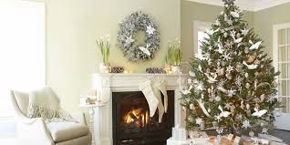 white and silver christmas tree decorations christmas lights