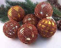 handmade baubles crochet baubles duck egg white