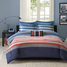 Blue Bed Set Amazon Com Mizone Kyle 4 Piece Comforter Set Red Blue Full