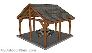 Build A Picnic Table Instructions by 16x16 Outdoor Pavilion Plans Myoutdoorplans Free Woodworking