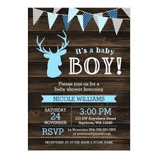 baby boy shower invitations rustic baby shower invitations announcements zazzle