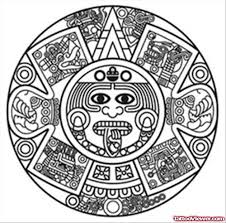 simple aztec sun tattoo design tattoo viewer com
