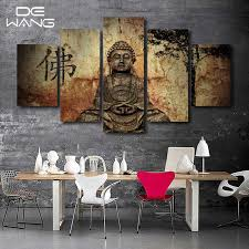 Wall Decor Canvas Aliexpress Com Buy 5 Piece Zen Buddha Modern Home Wall Decor
