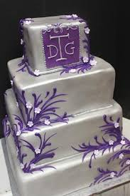 purple and silver fancy wedding cake xtra special cakes