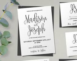 wedding invitation bundles wedding invitation kits etsy