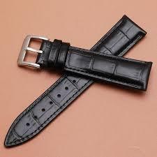 black leather strap bracelet images 14mm 16mm 18mm 20mm 22mm genuine leather watchband croco pattern jpg