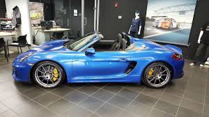 blue porsche spyder 2016 porsche boxster spyder for sale columbus ohio youtube